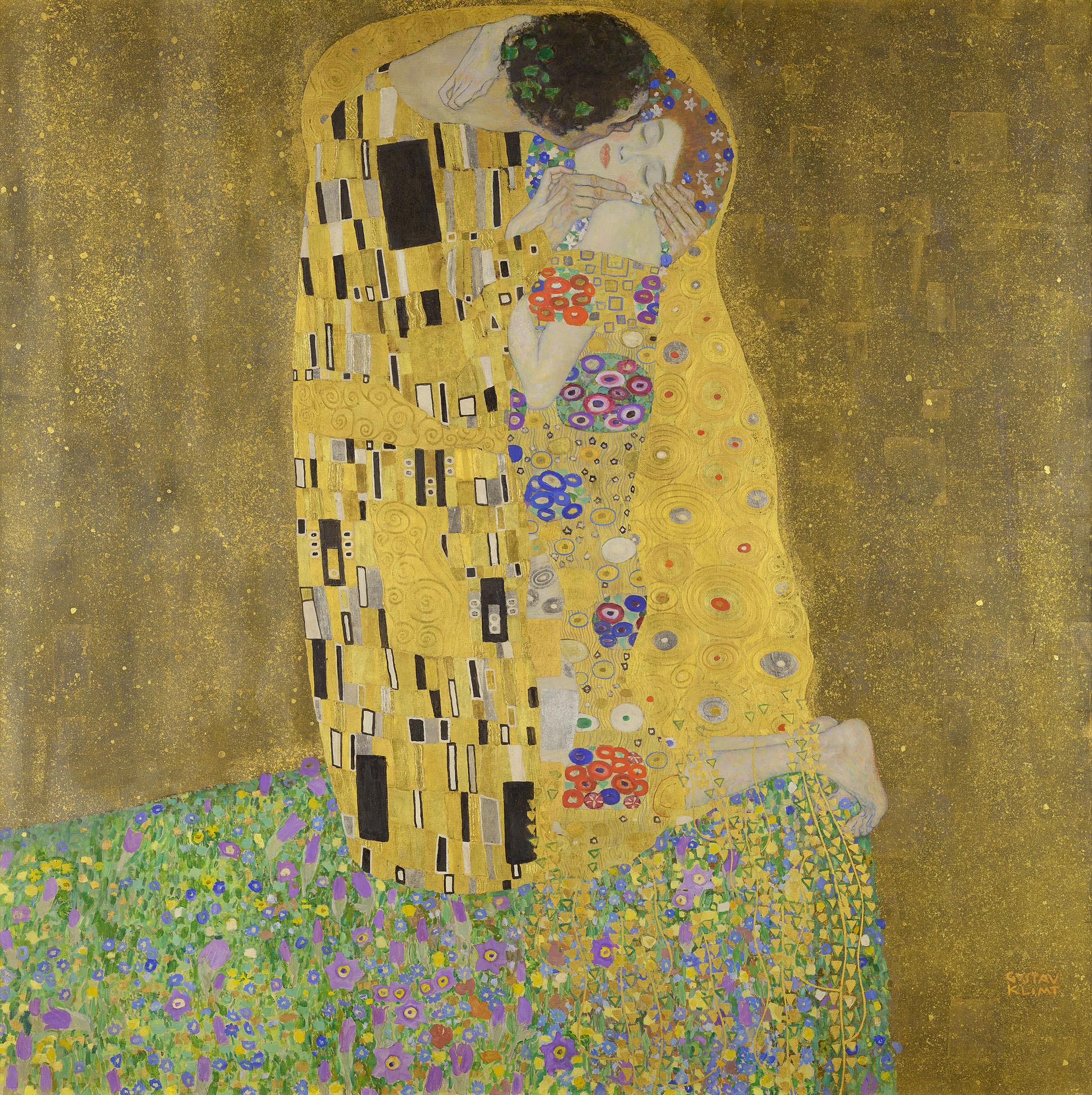 4. Il bacio – Gustav Klimt (c. 1907-08) - Österreichische Galerie Belvedere, Vienna