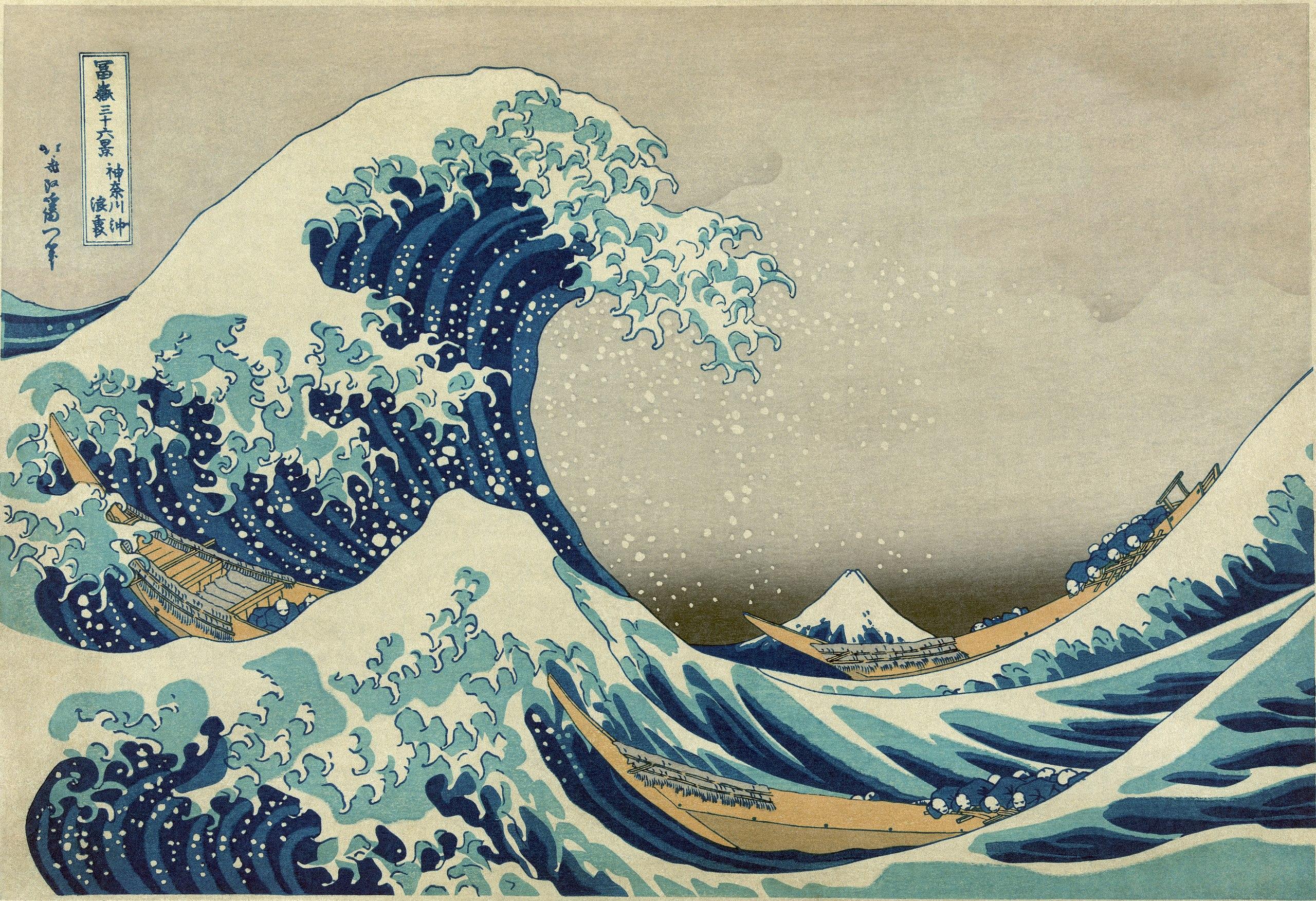 9. La grande onda di Kanagawa - Katsushika Hokusai (1830-31) - xilografia