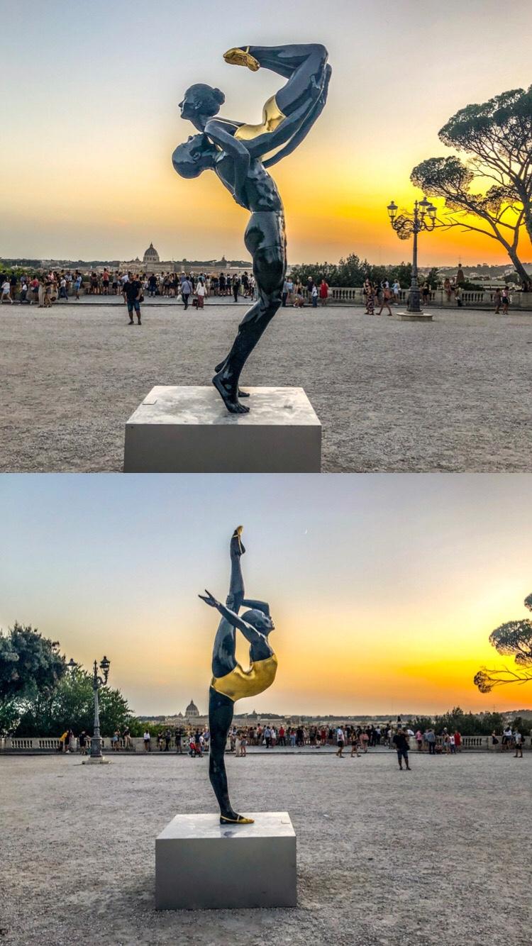 Iperrealismo a Roma. Carole A. Feuerman, sculture, Roma, Terrazza del Pincio